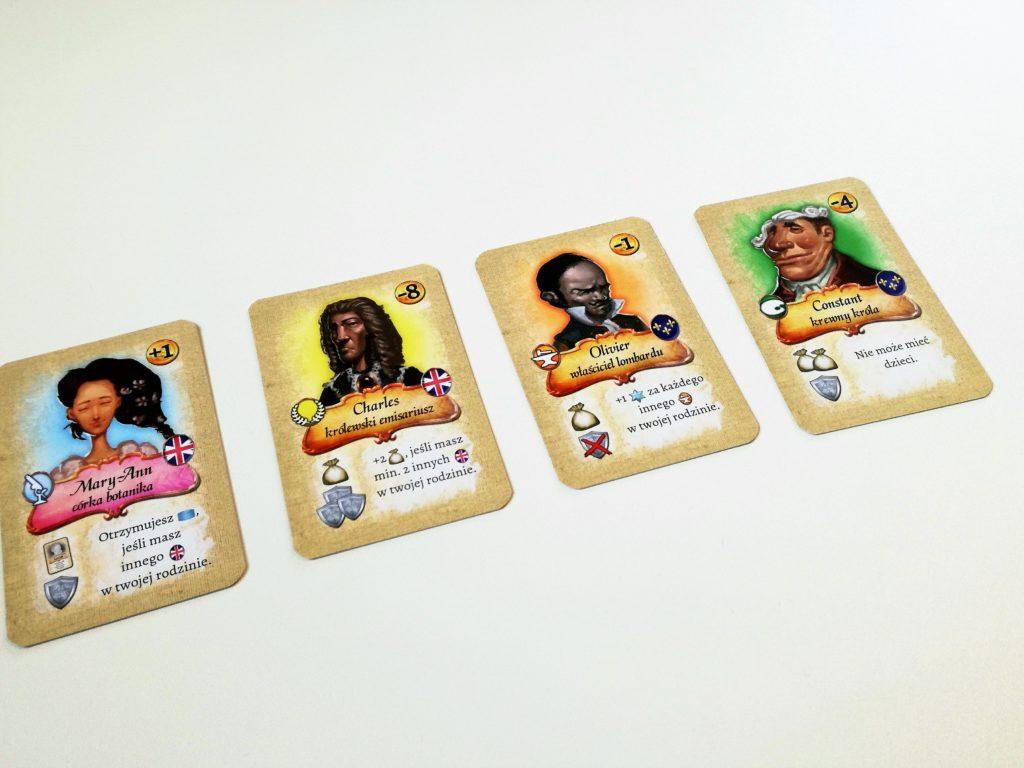 Przykładowe karty znajomych