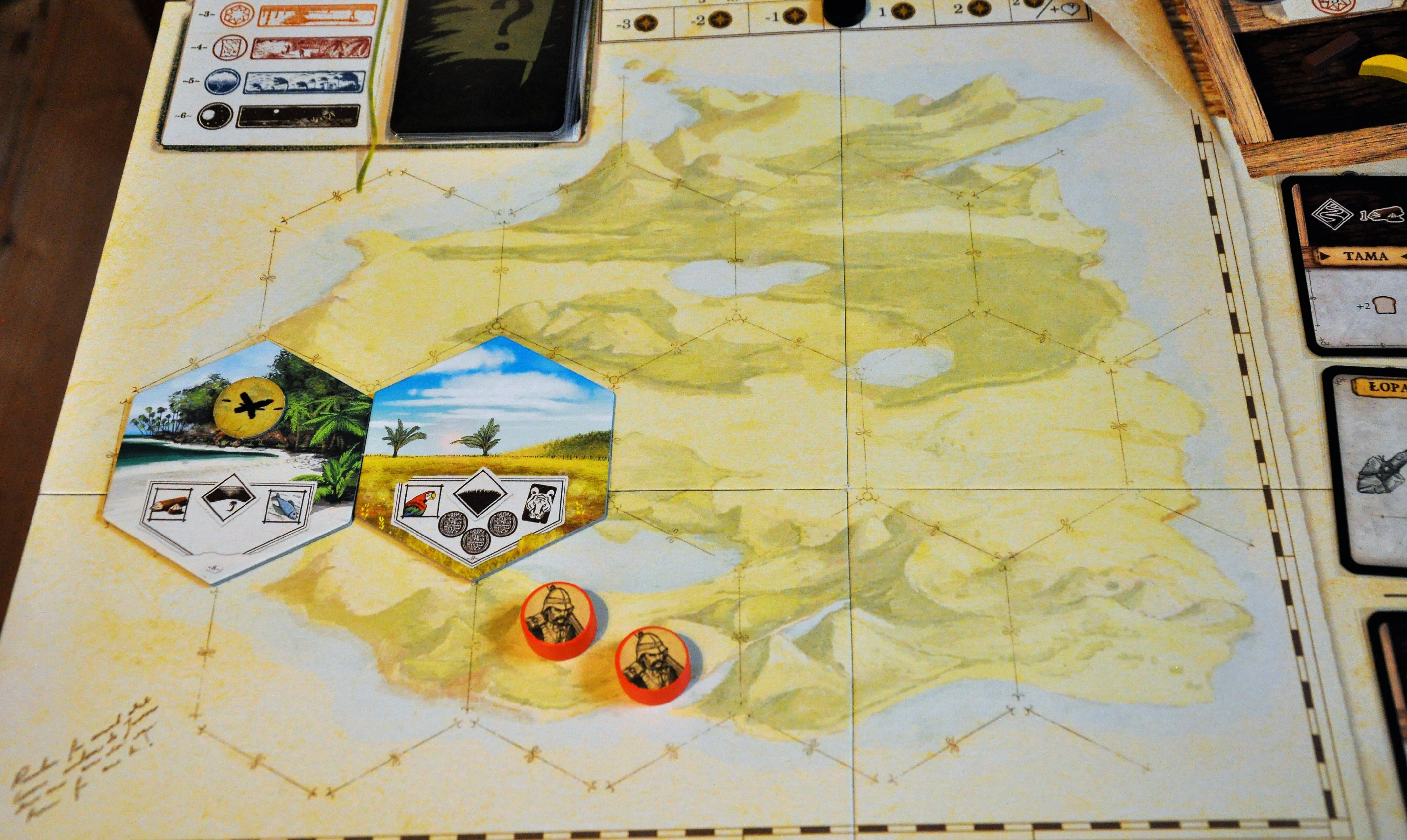 Mapa wyspy pozwalająca naeksplorację kolejnych fragmentów
