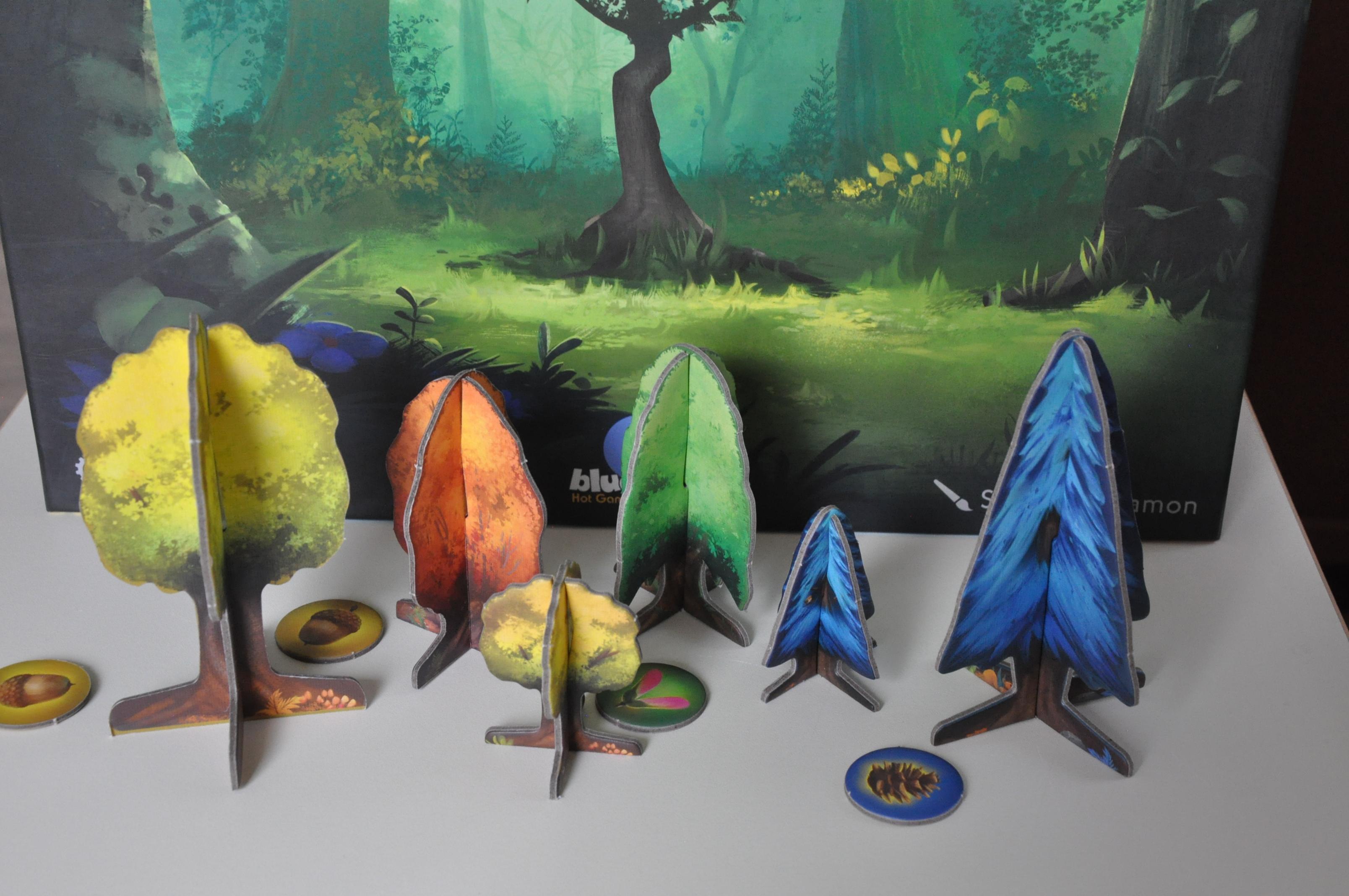 Kartonowe modele drzew inasiona