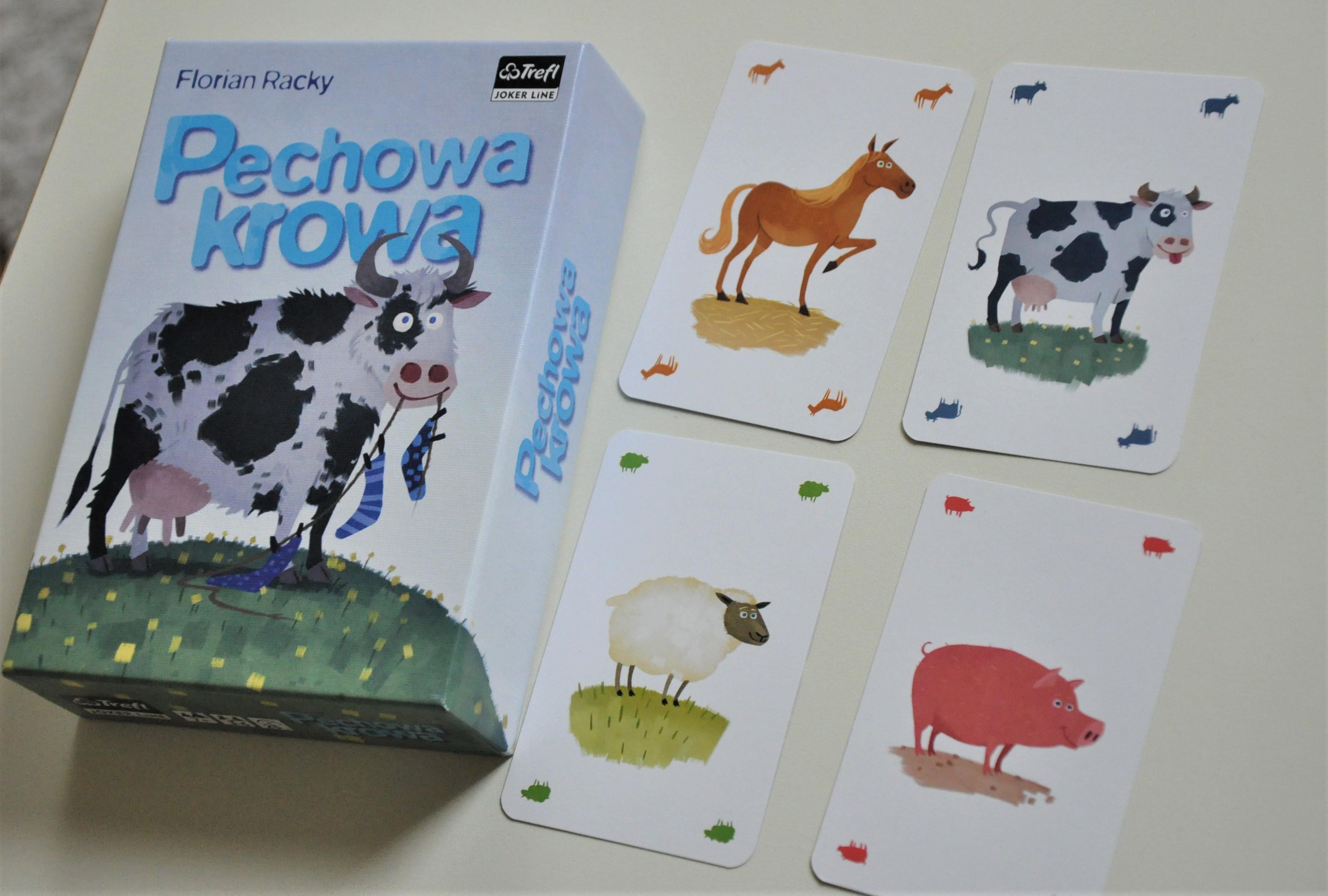 """Karty zwierząt wgrze """"Pechowa Krowa"""""""