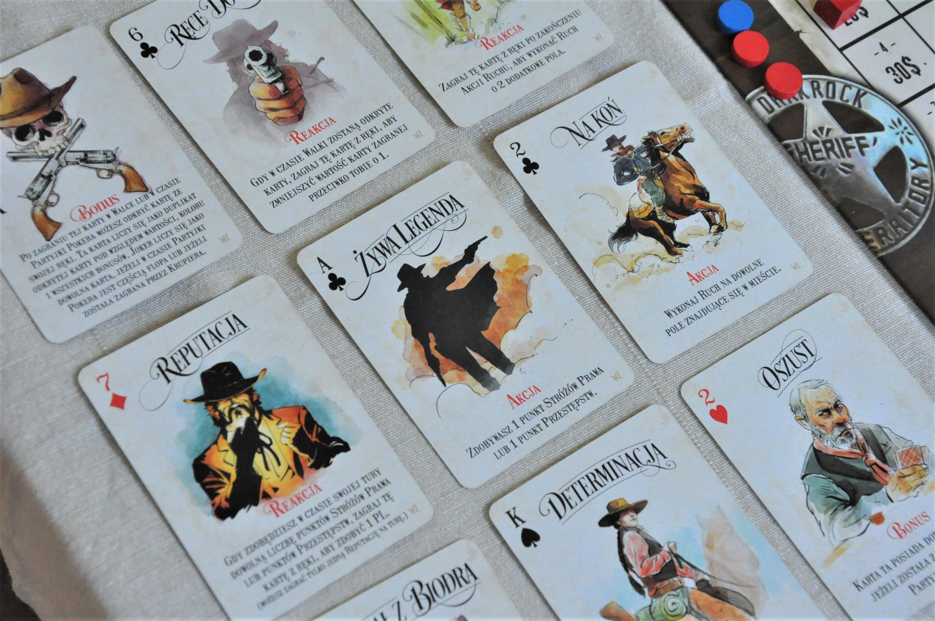 """Karty pokerowe wgrze """"Western Legends"""""""