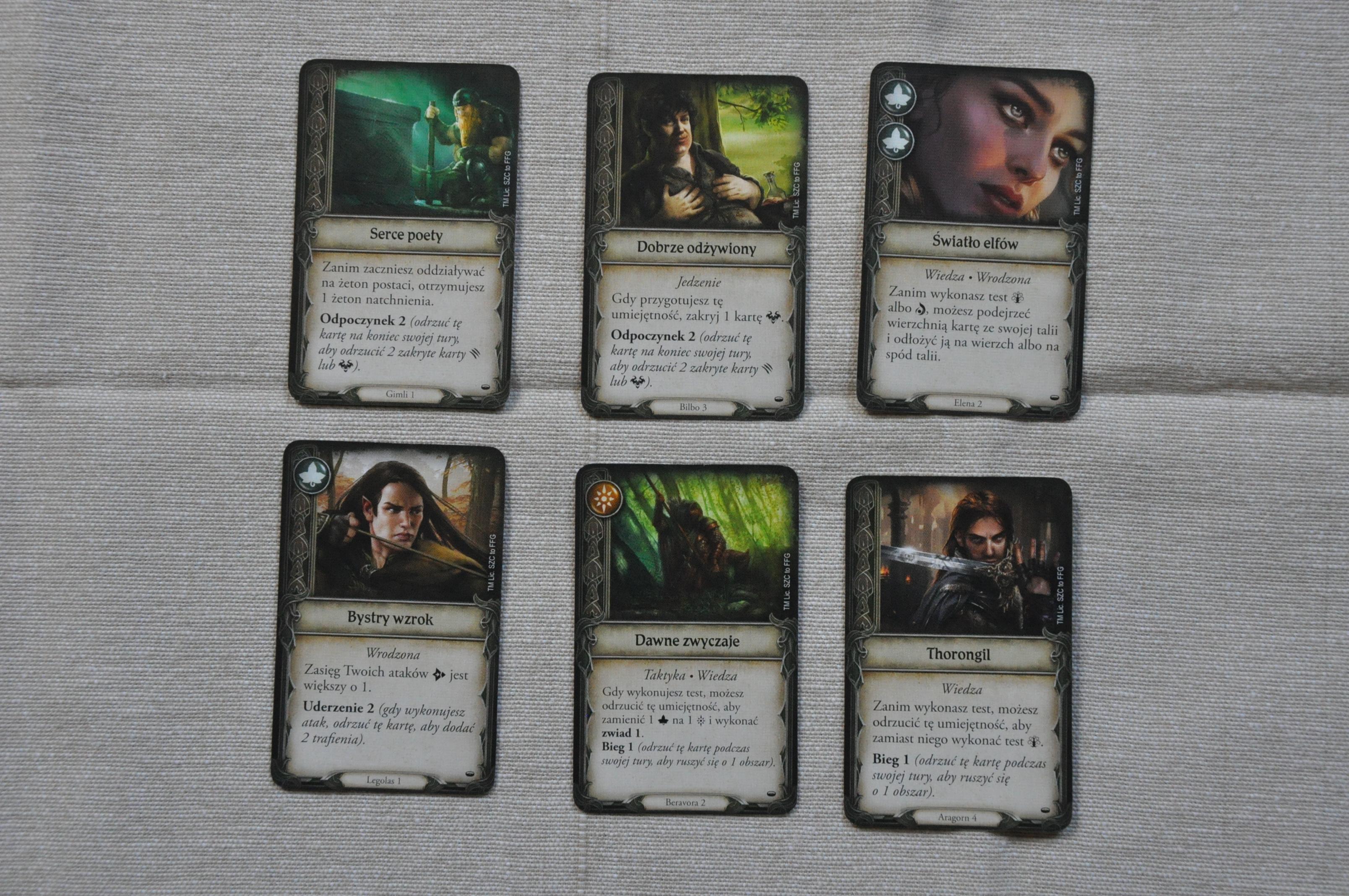 Karty imienne, przypisane dokonkretnych postaci