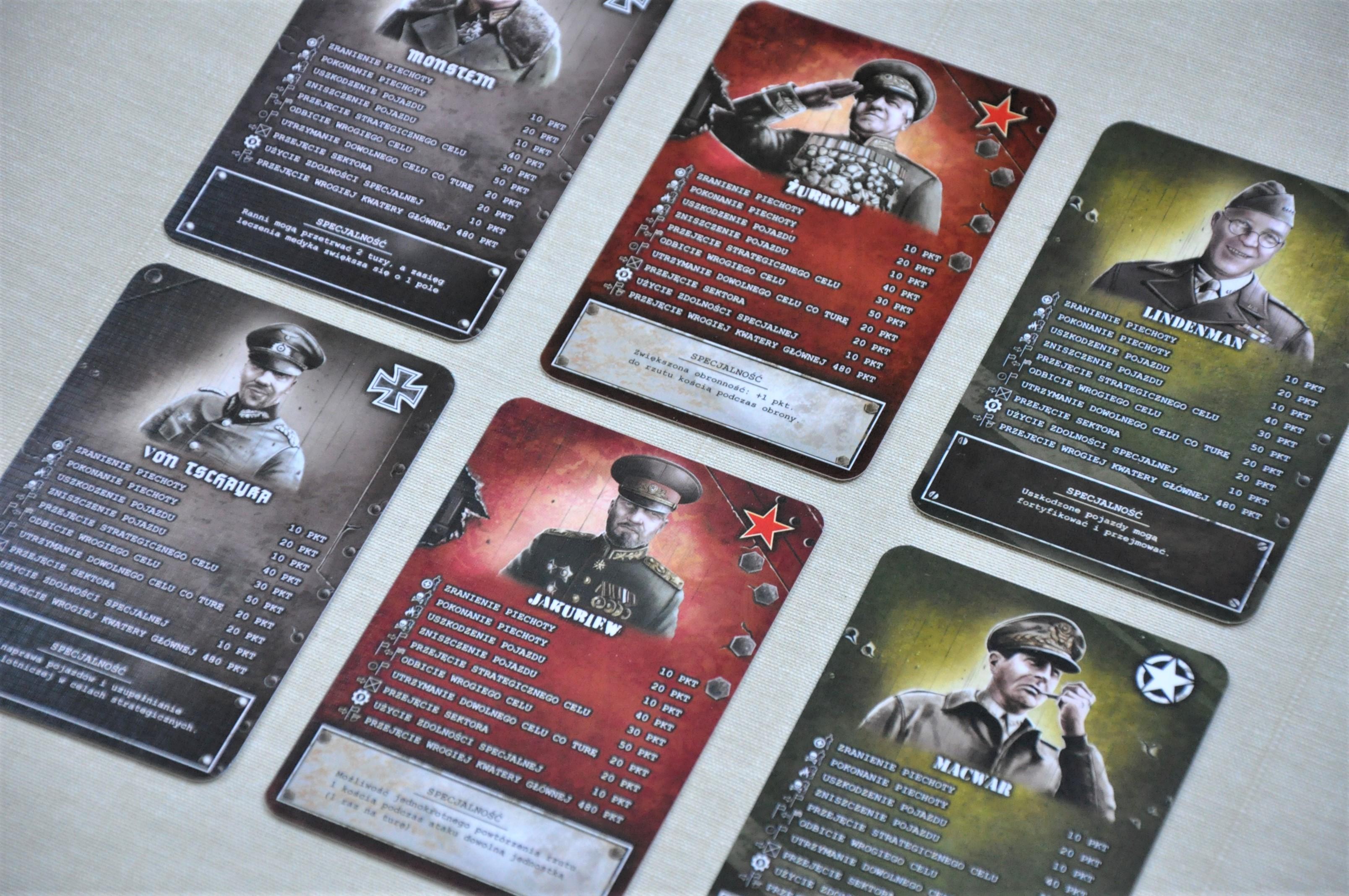 Przykładowe karty generałów