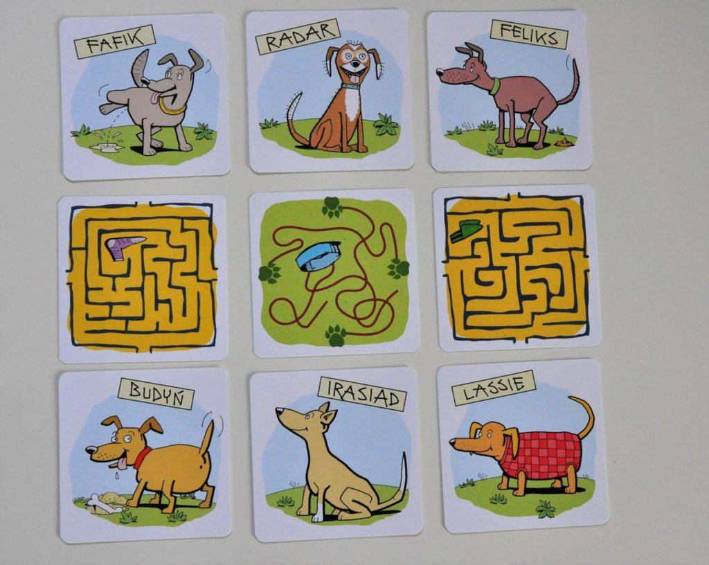 Karty psów wgrze (awers irewers)