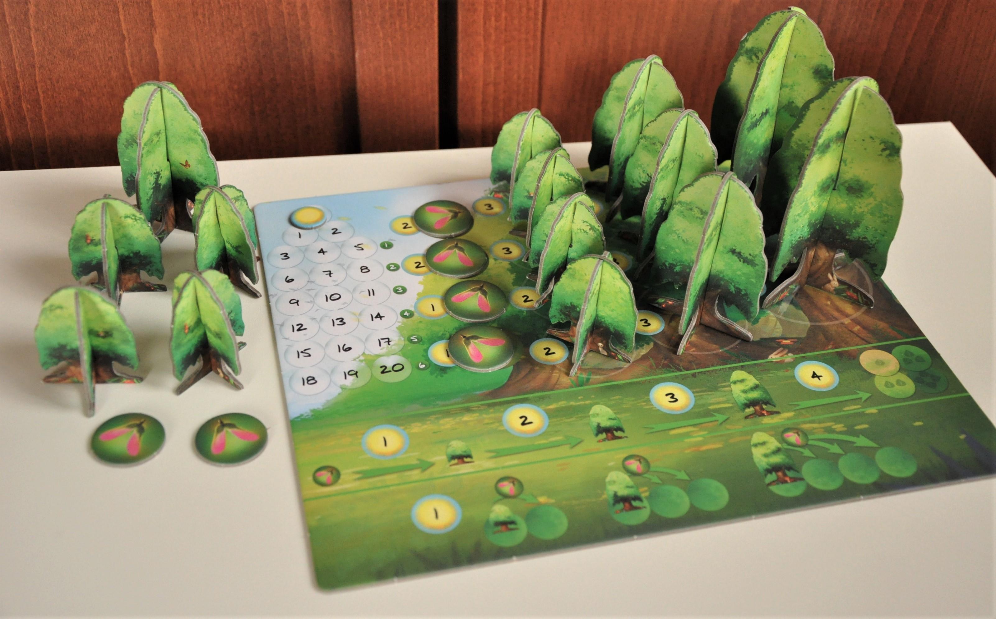 Zasoby dostępne dla gracza znajdują się poza planszetką