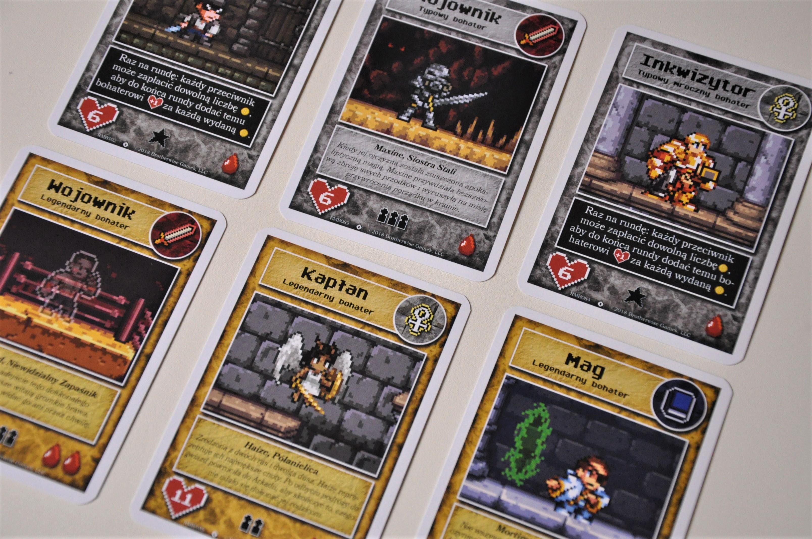 Karty typowych ilegendarnych bohaterów