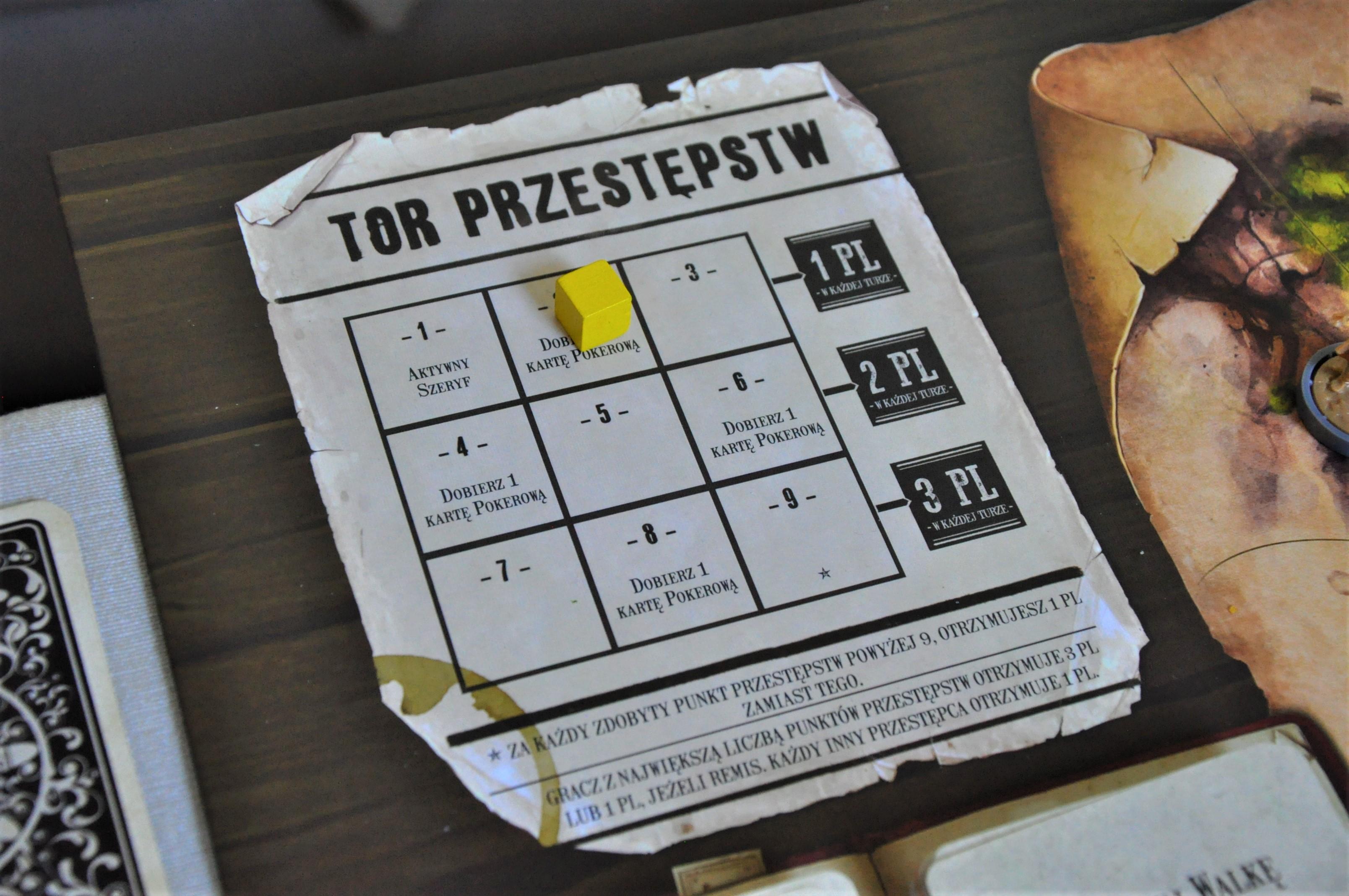 Tor przestępców dający graczowi bonus co rundę